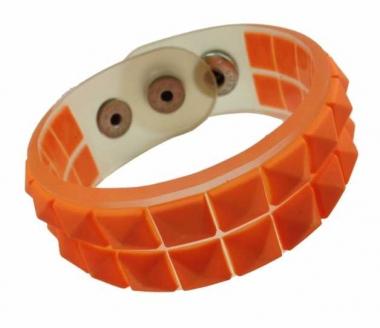 Silikon Armband - Gummi Nieten Orange
