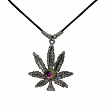 Halskette Cannabisblatt