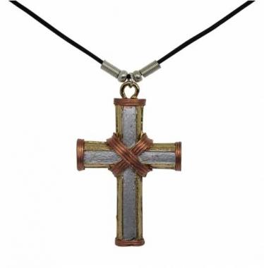Seil Kreuz Anhänger mit Baumwollkordel