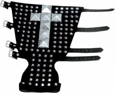 Ledernietenband - 111 Spitznieten & 7 Pyramidennieten