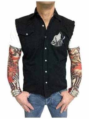 Worker Shirt Moonlight Wolf