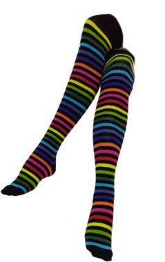 Over Knee Socken Mehrfarbig Gestreift