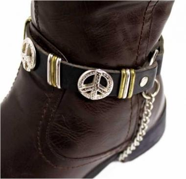 Leder Stiefelband - Peacenieten