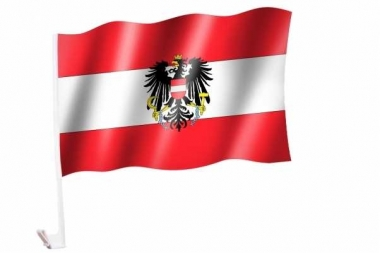 Autofahnen Österreich mit Wappen