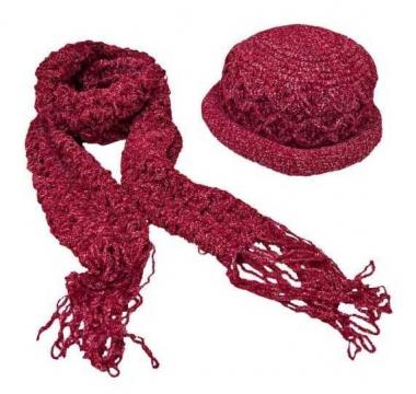 Schal Set - Rot