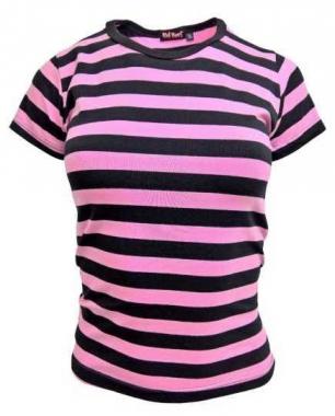 Streifen Top Pink