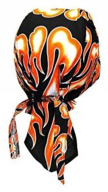 Bandana Kopftuch Feuer Orange