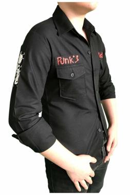 Hemd Punks kickin Schwarz