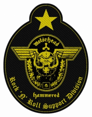 Aufnäher Motörhead Support Division Cut Out