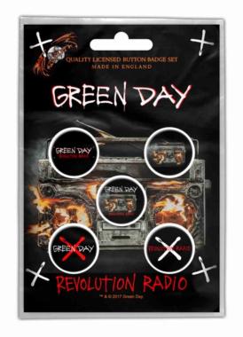 Button Pack - Green Day Revolution Radio