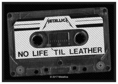 Aufnäher Metallica No Life Till Leather