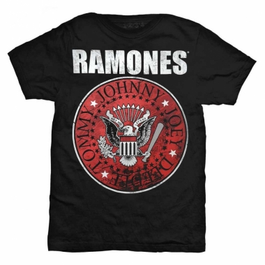 Ramones Crest Logo (Red) T-Shirt