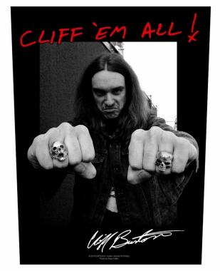 Cliff Burton Rückenaufnäher Cliff em all