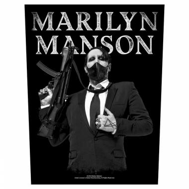 Marilyn Manson Rückenaufnäher Machine Gun