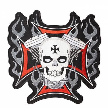 Aufnäher - Eisernes Kreuz mit Schädel