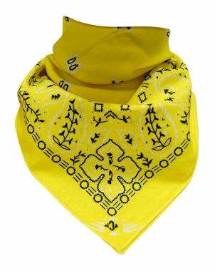XL Bandana Halstuch Gelb Paisley