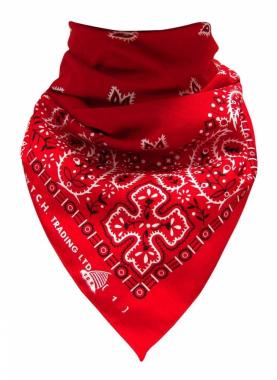 XL Bandana Halstuch Rot Paisley
