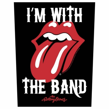 Rolling Stones Rückenaufnäher I´m with the band