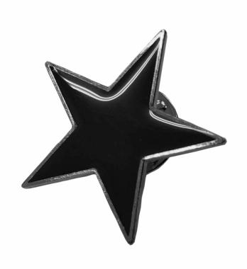 Anstecker Schwarzer Stern
