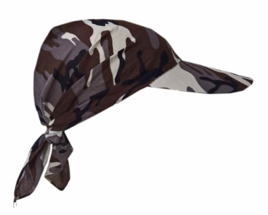 Sonnenschirm Cap Braunes Camouflage