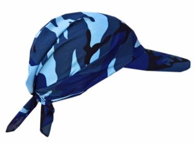 Sonnenschirm Cap Camouflage Blau