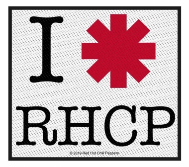 Red Hot Chili Peppers I love RHCP Aufnäher