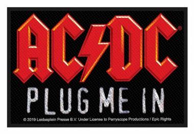 AC/DC Aufnäher Plug me in