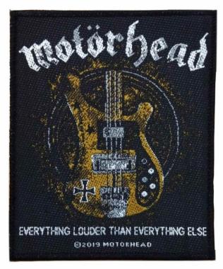 Motörhead - Lemmys Bass - gewebter Aufnäher