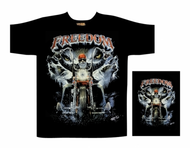 Biker T-Shirt Freedom  (Glow in the Dark)