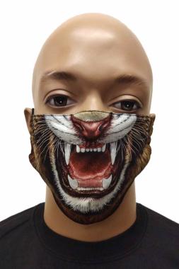 Gesichtsmaske Tiger Gebiss