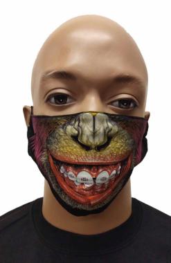 Gesichtsmaske Schimpansen Lippen