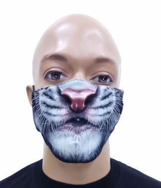 Gesichtsmaske weißer Tiger