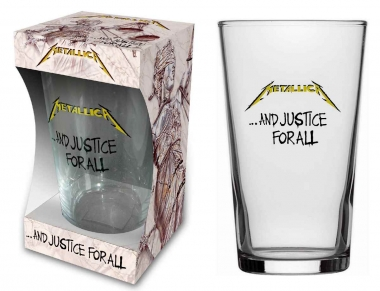 Metallica Trinkglas - And justice for all
