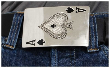 Gürtelschnalle Ace Card