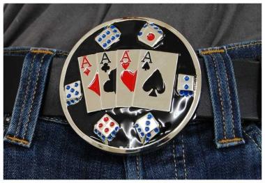 Gürtelschnalle Playing Cards