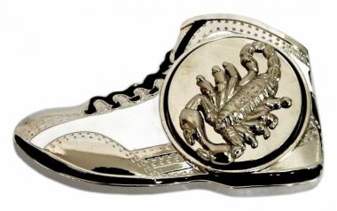 Gürtelschnalle Shoe with Scorpion