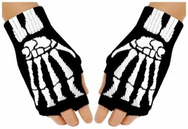 Fingerlose Handschuhe Skeleton Hand