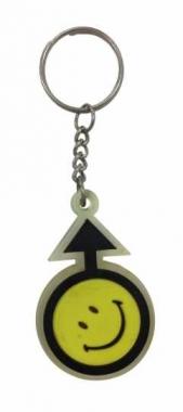 Mars Smiley Schlüsselanhänger aus Gummi