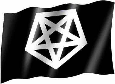 Pentagramm - Fahne