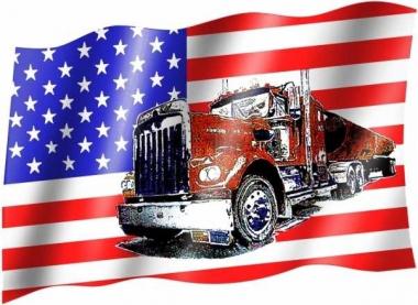 USA LKW - Fahne