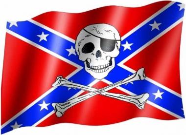 Südstaaten Totenkopf - Fahne