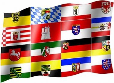 16 Bundesländer - Fahne