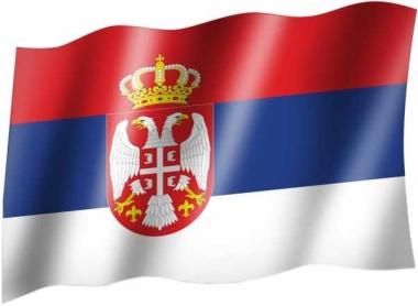 Serbien Wappen - Fahne