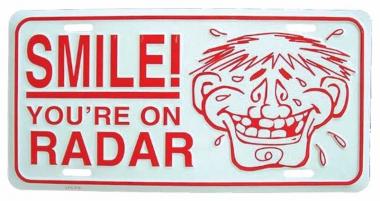 Smile! Blechschild - 30cm x 15cm