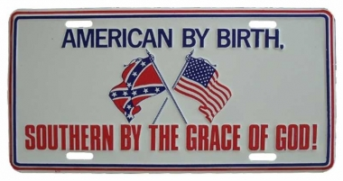 American by birth Blechschild - 30cm x 15cm