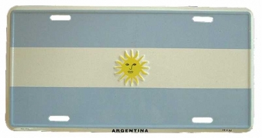 Argentinia Blechschild - 30cm x 15cm