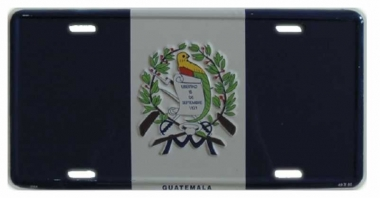 Guatemala Blechschild - 30cm x 15cm