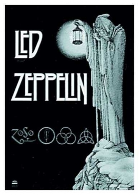 Posterfahne Led Zeppelin Stairway to ..