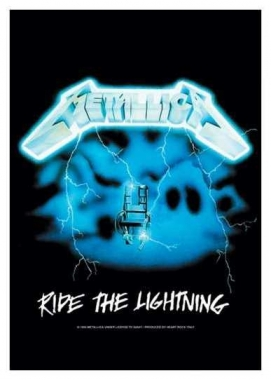 Posterfahne Metallica - Ride the Lightning