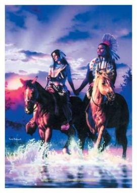 Posterfahne David Penfound -Sunset Ride